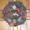 Karácsonyi kopogtató termésekkel