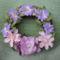 Lila virágos kopogtató
