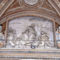 Bernini's relief _Pasce Oves Maes_between St. Telesphorus and St. Xystus over the main portal