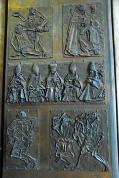 Bronze panel from the Door of Good and Evil, St. Peter's