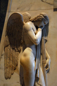 Detail of an angel on Canova's Stuart Monument