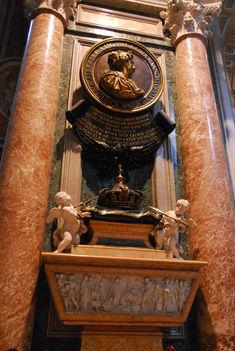 Krisztina királynő sírja a Szent Péter Bazilikában