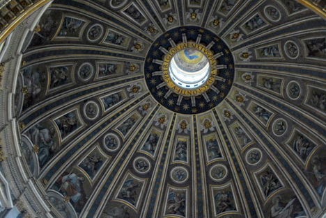 Michelangelo's dome, 120m, St. Peter's Basilica