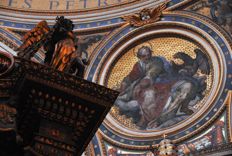 Mosaic of St. John the Evangelist, St. Peter's Basilica
