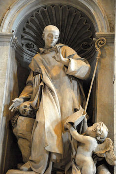 St. Bruno (1035-1101) founder of the Order of Carthusians, by Michelangelo Slodtz, 1744