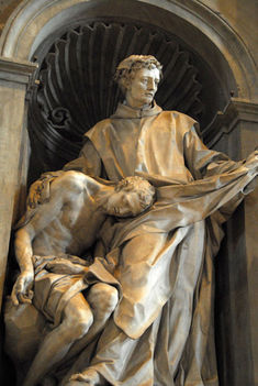 St. John of God (1495-1550) founder of the Hospitallers, by Filippo Della Valle, 1745