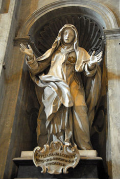 St. Juliana Falconieri (1270-1341) founder of the Servites, by Paolo Campi, 1740