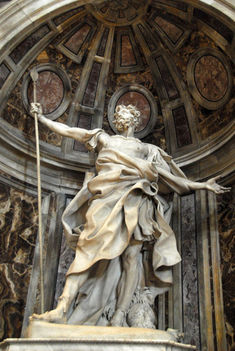 St. Longiunus, the Roman centurion who speared Christ with the Holy Lance, by Bernini, 1635