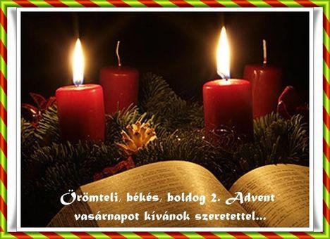 képeslap mára advent 2. vasárnapja van.