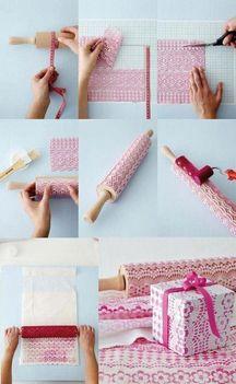 Csomagolópapír sk festés csipkével