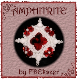 Amphitrite fehér-pirosban