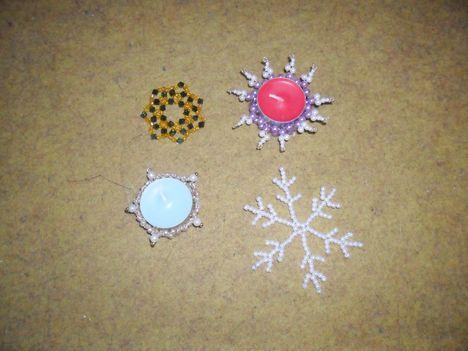 csillagok,mécsestartók,hópehely gyöngyből 3