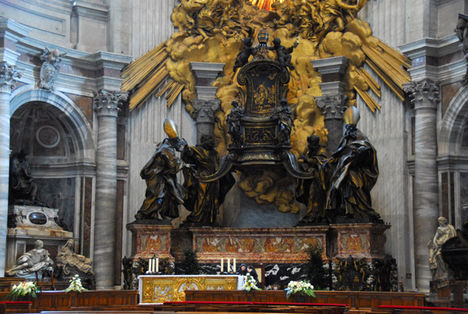 The Tribune (apse) with the Altar of the Chair of St. Peter, by Bernini 1666