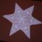 Csillag alakú asztal-közép