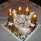 2012. Negyedik Advent vasárnapja, már négy gyertya ég.