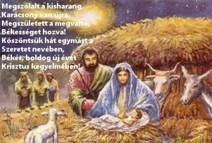 Áldásokban gazdag, békés és Krisztus szeretetében bővölködő Karácsonyi Ünnepeket kívánunk! 1