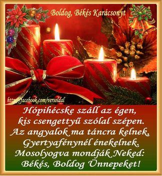 Nagyon boldog ünnepeket kívánok minden kedves Klubtársamnak.Marika
