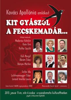 Kovács Apollónia emlékest 2013.01.11