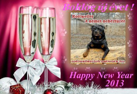 Boldog új évet kíván a  rottweilerclub.network.hu