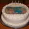 Kisfiam harmadik szülinapi tortája(Vaníliás,banános,tejszínes)