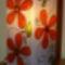 Narancssárga virágos lámpa