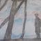 Gát őr 30 x 40 kréta szén rajzlapon