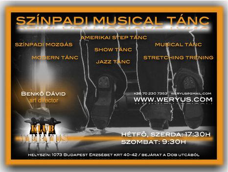 Komplex Színpadi Musical Tánc  Képzés - Klub Weryus™