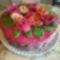 Virágos kosár torta