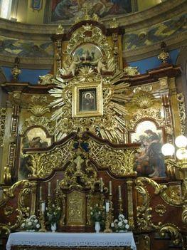 Máriapócs oltár és kegykép