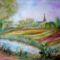 Dunaharaszti látkép akvarell