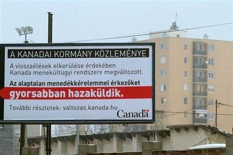 Cigányriasztó kanadai plakát Miskolcon - 2013.01.19.