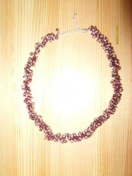 lila borzi nyaklánc