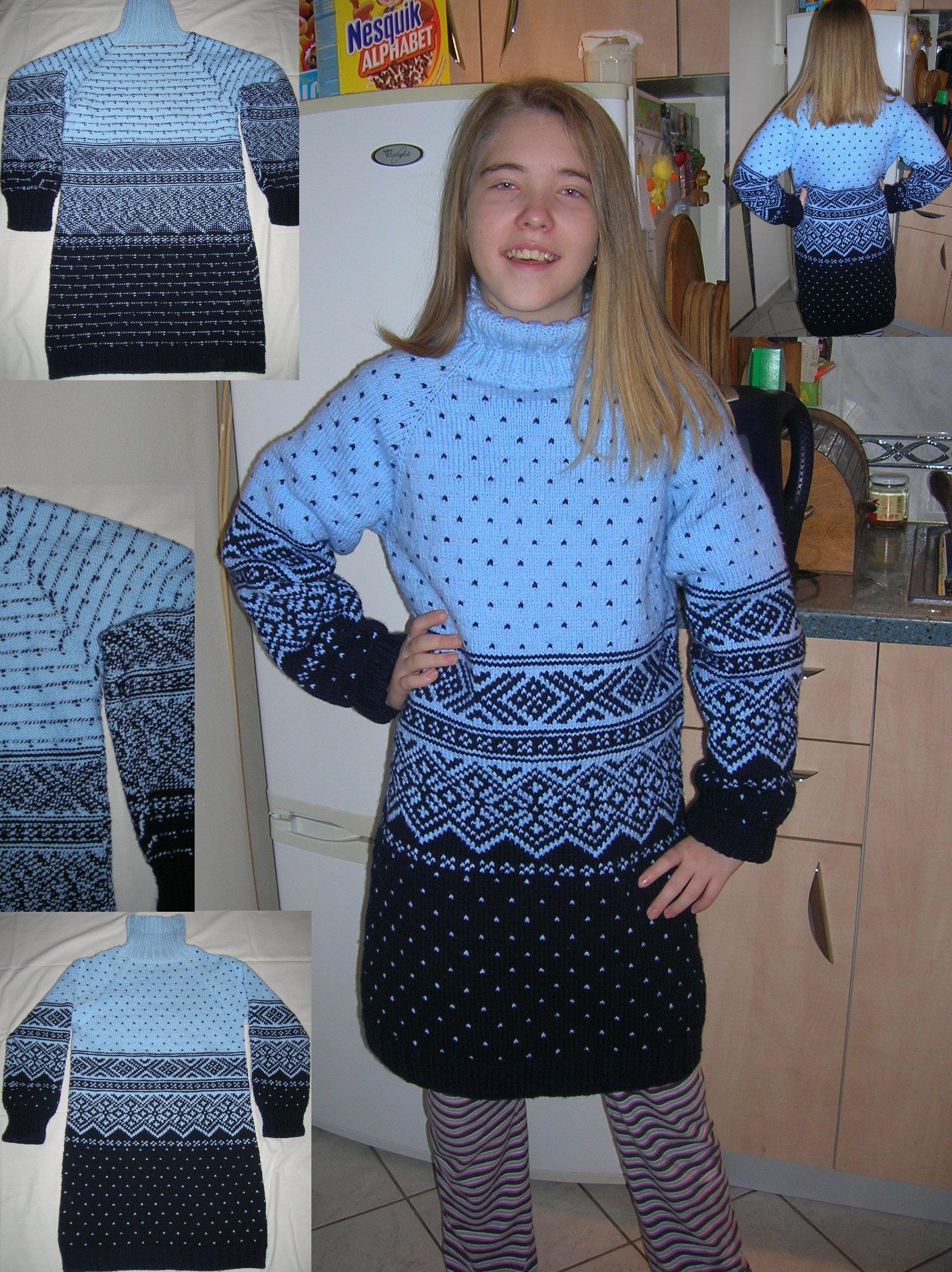 Kötés horgolás  Norvég mintás ruha V4 Finish (kép) 2a6df18038