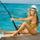Csajok-Nők tengeri horgászat