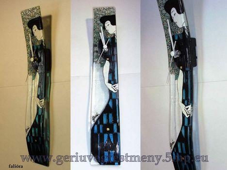 festett üveg falióra, hajlított üveg