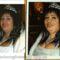 portré üvegre festve