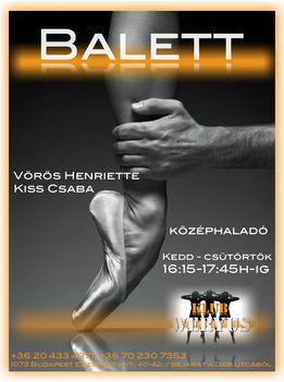 BALETT ÓRA - Vörös Heni, Kiss Csaba a Budapesti Operettszínház művészei vezetésével!!!   kedd, csütörtök: 16:15-től 17:45-ig!  GYERE TÁNCOLJ . . .:-))!!!  - Ezekben az időpontokban tartandó kezdő órára regisztrálás, a helyszínen.   - Magán órákra előjegyz