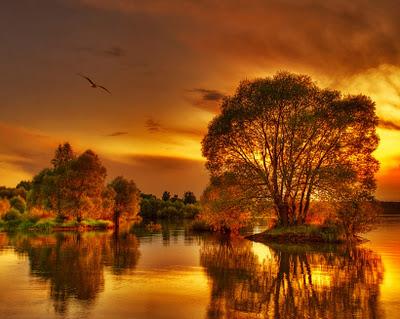 Csodálatos őszi kora este, ezer színben pompázik a táj