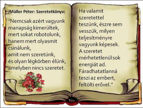 idézetek müller péter szeretetkönyv Barbacs oldala: Müller Péter Szeretetkönyv (kép)