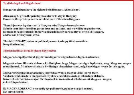Ez Magyarország szórólap menekült - 2012. This is Hungary