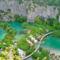 távoli nézet Plitvicei tavak