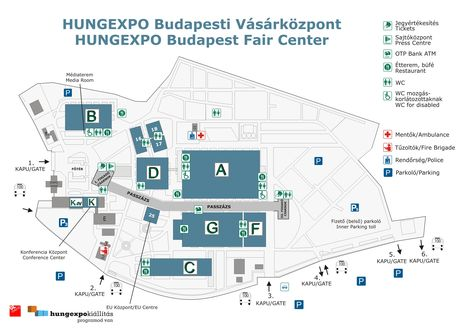 HUNGEXPO Budapest Vásárközpont (térkép, 2013)