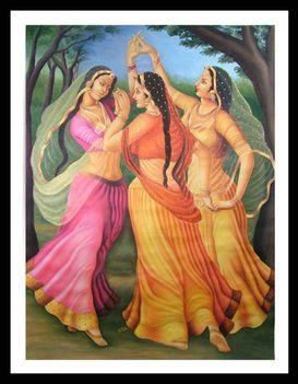 indiai tánc grafika 2