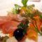 füstölt lazacos-sonkás saláta