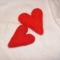 horgolt 3D-s szívek