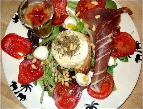 improvizáció salátára