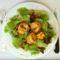 sült kecskesajt saláta