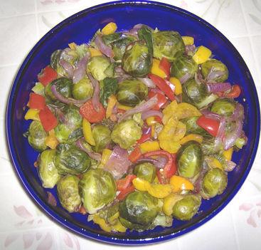 sült zöldséges saláta