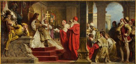benczúr gyula: Mátyás fogadja a pápa követeit