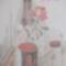 Bor és rózsa 30 x 40 , kréta szén